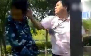 山东日照一男教师打骂军训迟到新生,校方:开除教师深刻反省