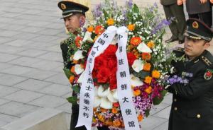 中国驻朝鲜使馆清明祭奠志愿军烈士,部分志愿军后代参加