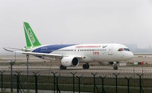 C919上海浦东机场高滑抬前轮试验,机场通行能力或降七成