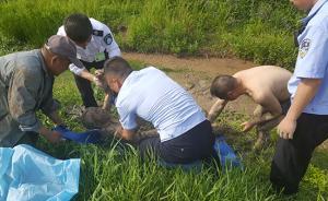 暖闻|江苏盱眙走失老人深陷泥塘,民警施救后助其回家
