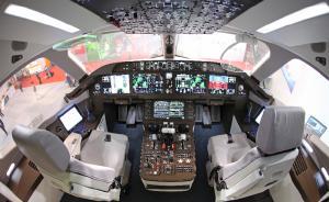 图为驾驶舱内部。C919飞机基本型全经济级布局为168座,混合级布局为158座,标准设计航程为4075-5555公里,属于大客中的入门级机型。  新华网 图