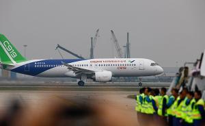 中国航空工业实现百年突破,C919大型客机在上海圆满首飞