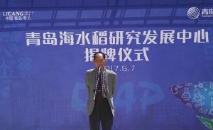 袁隆平出席青岛海水稻研发中心揭牌仪式,6-7月份投入使用