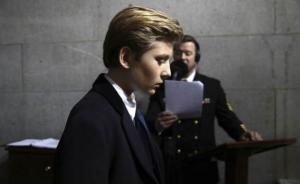 特朗普小儿子转学至华盛顿名校,离别前带全班同学游白宫