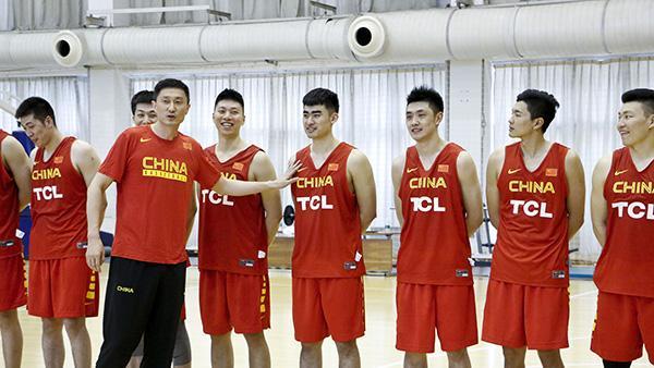 中国男篮红蓝队首训