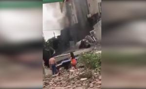 饭店煤气罐爆炸房屋坍塌,致3死11伤