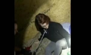 美国警方公布色魔连环杀手囚禁受害人获救视频:铁链拴脖