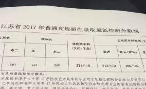 江苏高考分数线公布:本一文科333分、理科331分