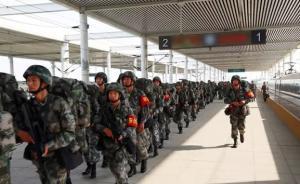中部战区陆军某旅6月乘高铁离开驻守48年的城市千里移防