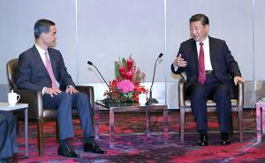 习近平会见梁振英和香港特区行政、立法、司法机构负责人