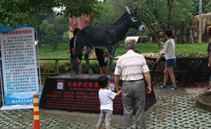 """常州淹城动物园立碑纪念""""喂虎活驴"""",园方:它是冤死的"""