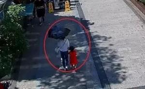3岁女童被独留杭州一服饰城,随行戴口罩女子在监控盲区离开