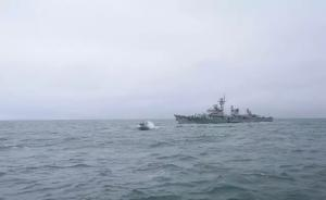 """东海舰队某支队实战演练,""""蓝方""""靶标舰艇被击沉"""