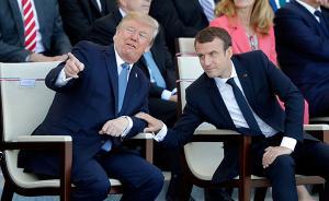 美法首脑法国阅兵式上秀亲密,专家:法对美有战略需求