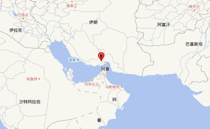 伊朗南部發生5.5級地震,震源深度30千米
