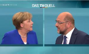 德国大选丨默克尔与舒尔茨电视辩论,过半观众认为默克尔赢