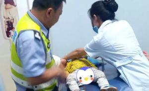暖闻|重庆幼童口吐白沫,民警闯6红灯并将其抱到6楼急救室