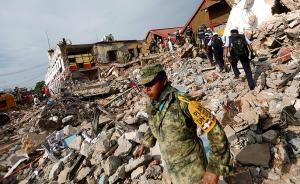 当地时间2017年9月8日,墨西哥墨西哥城,8日中午墨西哥发生里氏8.4级地震,遇难人数上升至58人。地震后街道一片狼藉。视觉中国 图