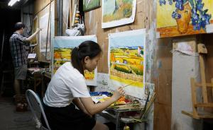 """墙上的梵高:深圳大芬村整治转型,五百墙壁油画工""""断舍离"""""""