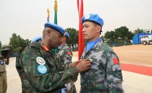 """中国第13批赴苏丹维和官兵荣获联合国""""和平荣誉勋章"""""""