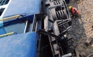 印度北方邦一列火车6节车厢脱轨,已致23人死亡
