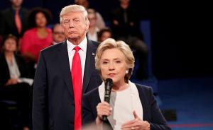 """希拉里出新书:特朗普辩论时的""""贴身战术""""让我起鸡皮疙瘩"""