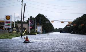 美国得州遭遇五十多年来最强飓风哈维袭击,折射气候变化之忧